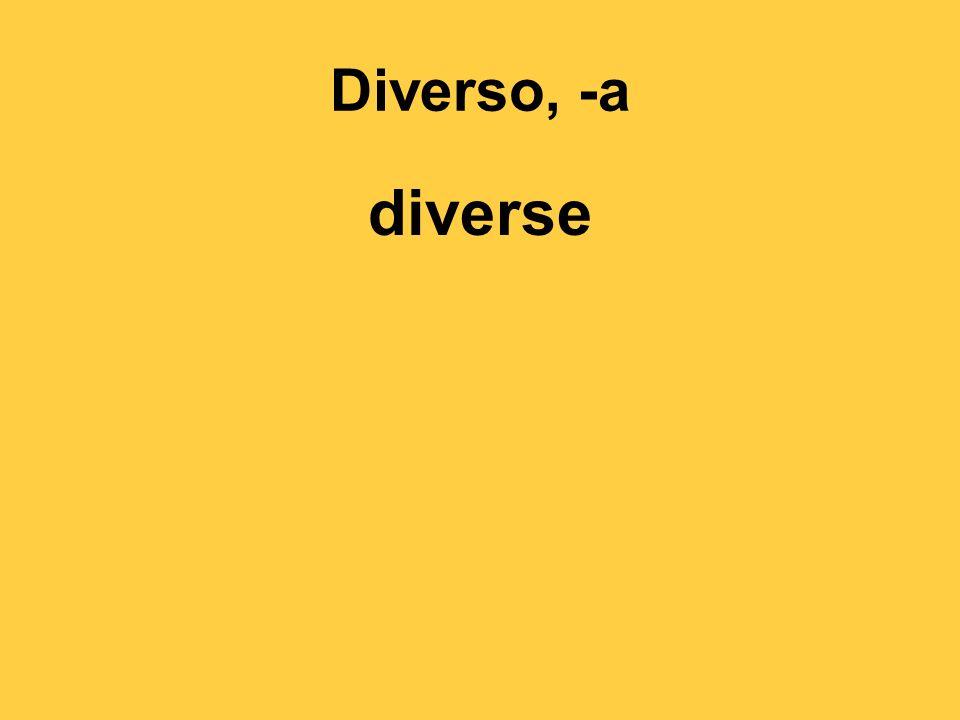 Diverso, -a diverse