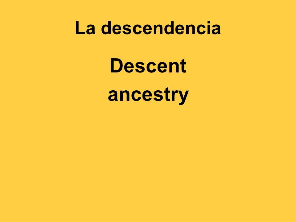 La descendencia Descent ancestry