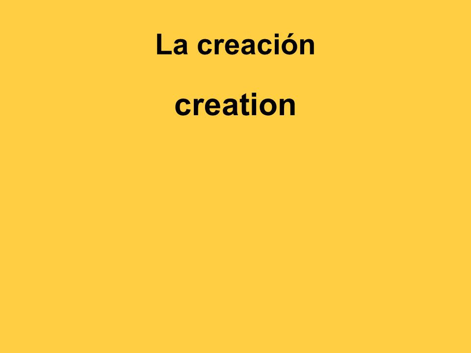 La creación creation