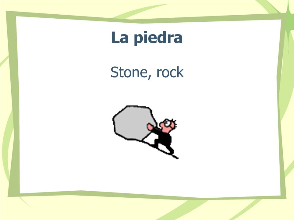 La piedra Stone, rock