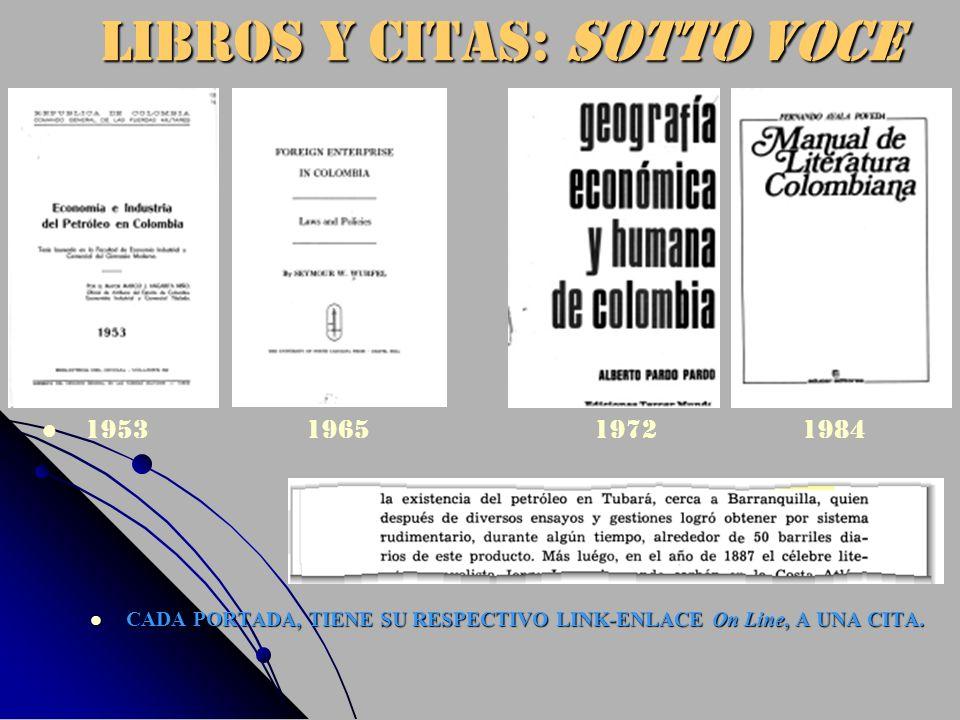 LIBROS Y CITAS: Sotto voce CADA PORTADA, TIENE SU RESPECTIVO LINK-ENLACE On Line, A UNA CITA. 1953 1965 1972 1984