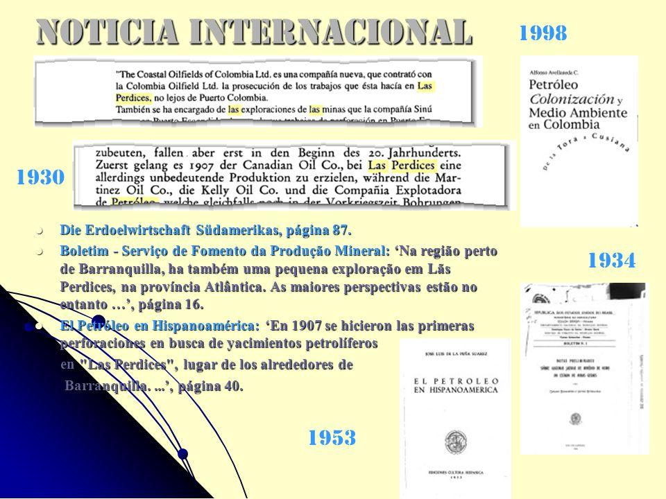 Noticia Internacional Die Erdoelwirtschaft Südamerikas, página 87. Die Erdoelwirtschaft Südamerikas, página 87. Boletim - Serviço de Fomento da Produç