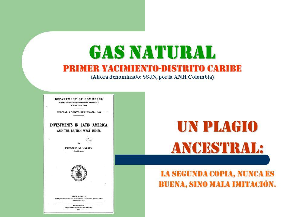 GAS NATURAL PRIMER YACIMIENTO-DISTRITO CARIBE GAS NATURAL PRIMER YACIMIENTO-DISTRITO CARIBE (Ahora denominado: SSJN, por la ANH Colombia) UN PLAGIO AN