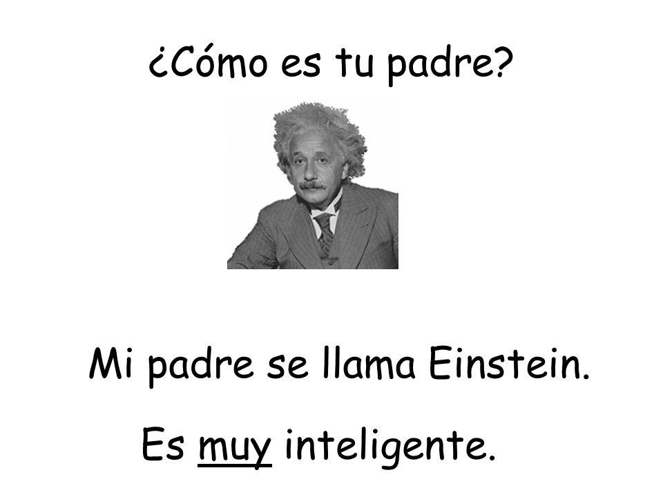 ¿Cómo es tu padre? Es muy inteligente. Mi padre se llama Einstein.