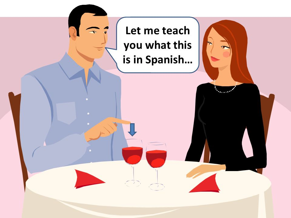 Let me teach you what this is in Spanish…