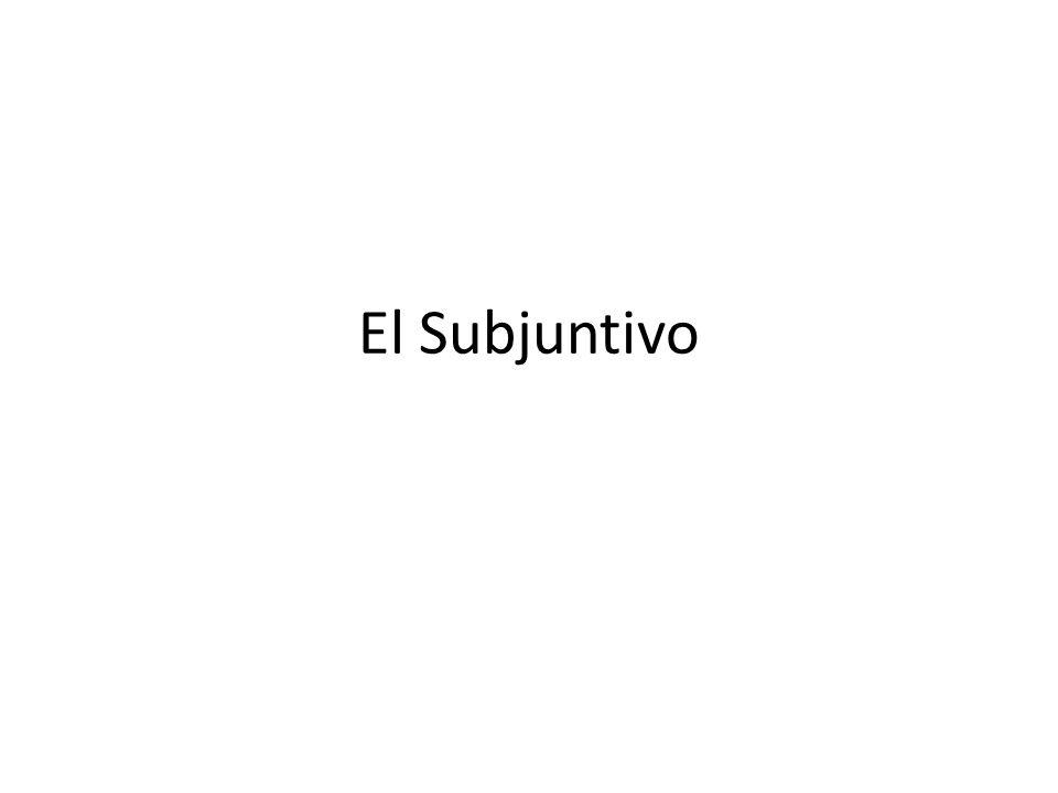 Yo quiero que tú….