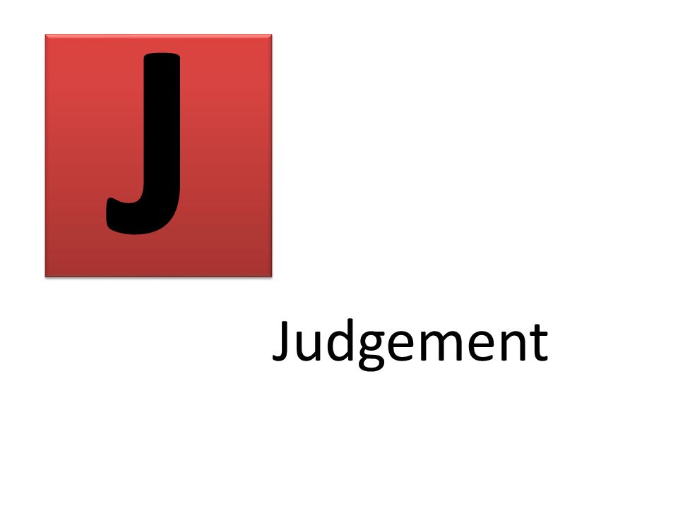J Judgement