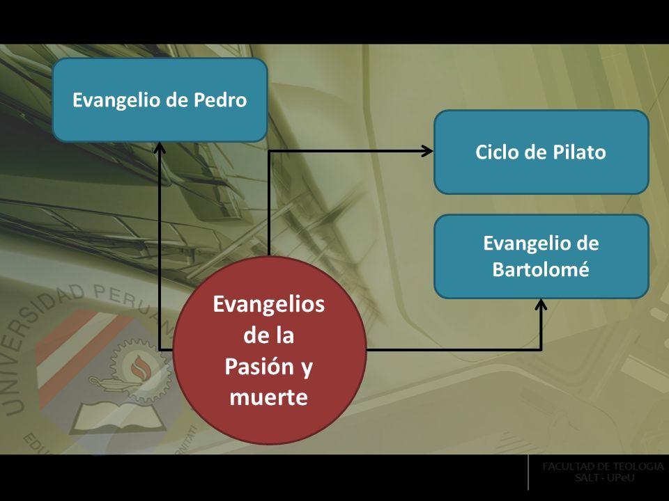 Ciclo de Pilato Evangelio de Pedro Evangelio de Bartolomé Evangelios de la Pasión y muerte