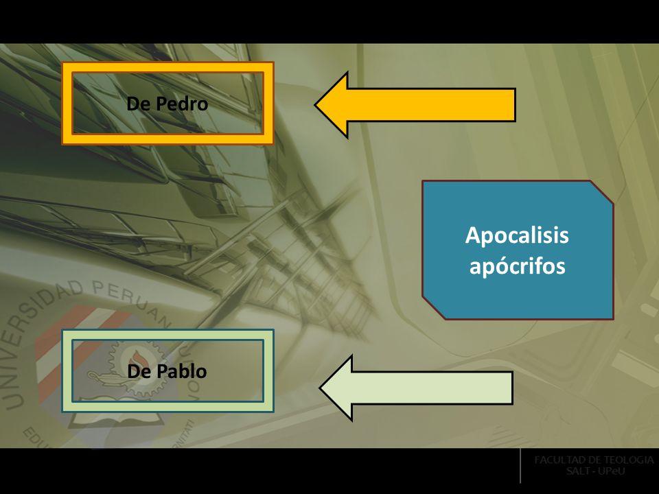 De Pablo De Pedro Apocalisis apócrifos