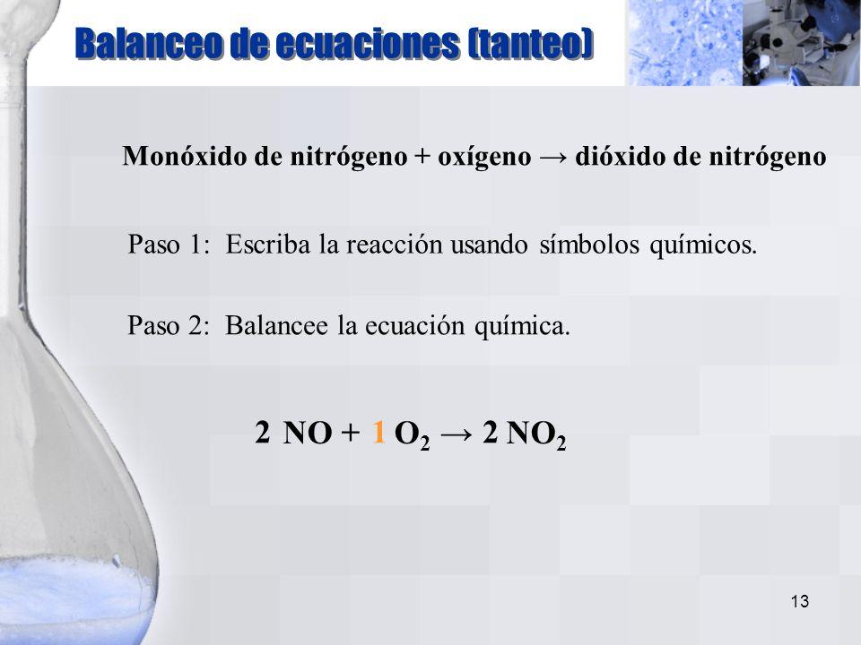 12 Siete elementos existen naturalmente como moléculas diatómicas: H 2, N 2, O 2, F 2, Cl 2, Br 2, y I 2 Moléculas diatómicas