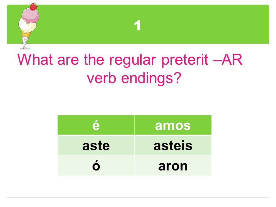 12 How do verbs ending in –CAR, -GAR, & -ZAR change in the yo form of the preterit.