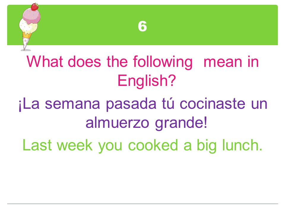 7 Create a sentence using a Superlative based on the information provided.