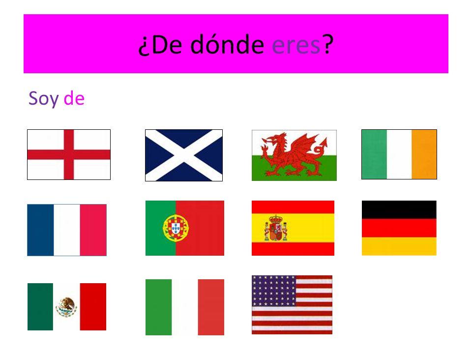 ¿De dónde eres? Soy de