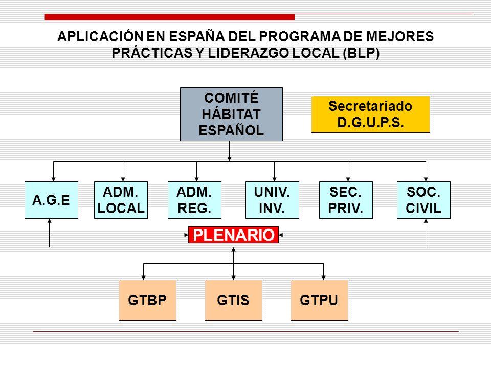 COMITÉ HÁBITAT ESPAÑOL Secretariado D.G.U.P.S. A.G.E ADM.