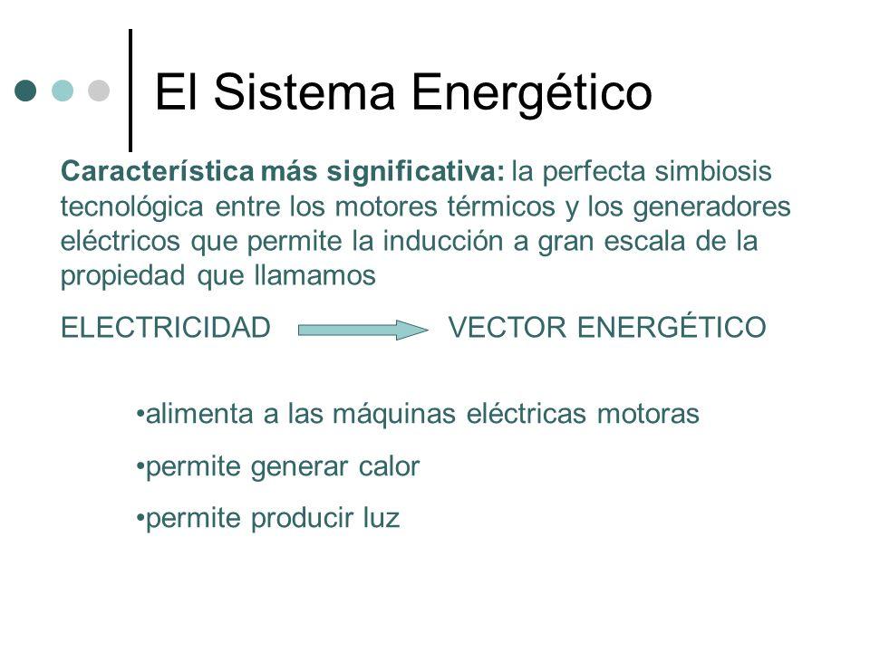 El Sistema Energético Característica más significativa: la perfecta simbiosis tecnológica entre los motores térmicos y los generadores eléctricos que