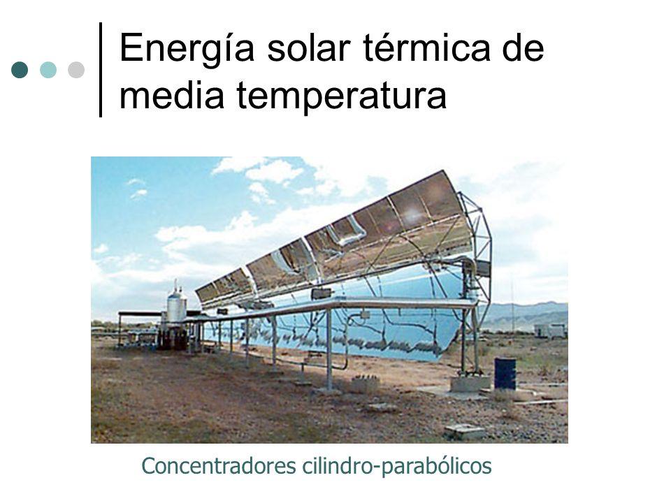 Energía solar térmica de media temperatura Concentradores cilindro-parabólicos