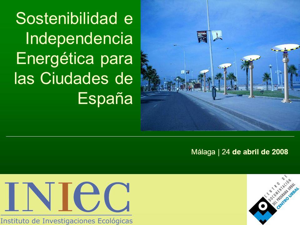 Sostenibilidad e Independencia Energética para la Ciudades Unidades: ktepAño 2006Estructura % Carbón18.14912,6% Petróleo70.86449,1% Gas Natural30.03920,8% Nuclear15.66910,9% Hidráulica2.1981,5% Otras Renovables7.6535,3% Saldo eléctrico-282-0,2% TOTAL144.291100% Consumo de energía primaria en España, 2006 Fuente: CORES, 2008 Fuente: Ministerio de Industria, Turismo y Comercio, 2006 Consumo de energía primaria en España, 2006 Renovables/Primaria 2006: 6,8% Objetivo PER 2010: 12,10% Efectos del Monopolio Natural