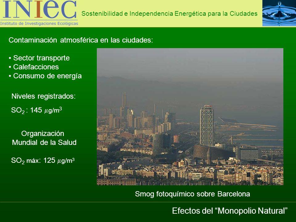 Planta desaladora 5 generadores de 2 MW = 10 Hm 3 /año 1.Producción de agua potable Sostenibilidad e Independencia Energética para la Ciudades Energía Eólica