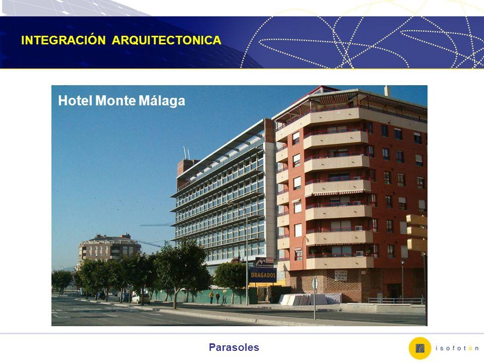 Parasoles Hotel Monte Málaga INTEGRACIÓN ARQUITECTONICA