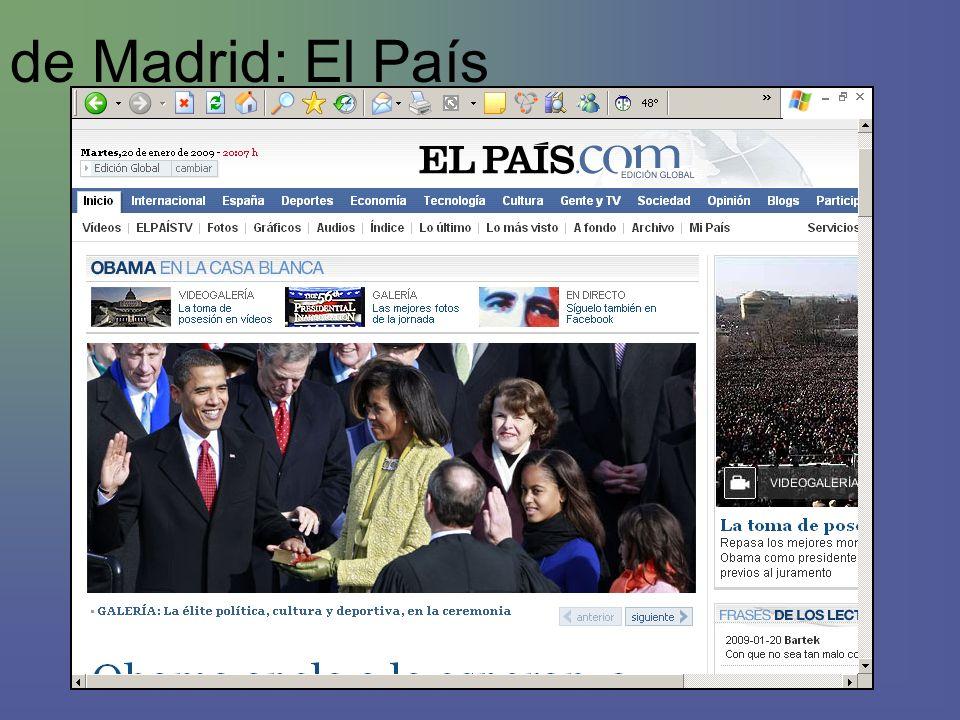 de Madrid: El País