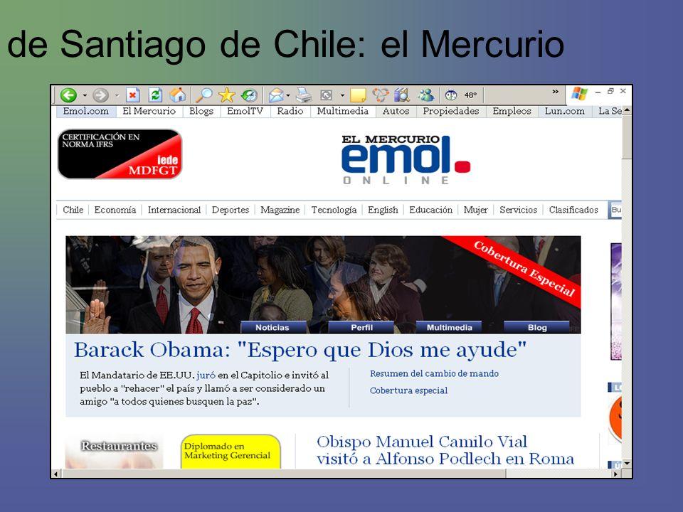 de Santiago de Chile: el Mercurio