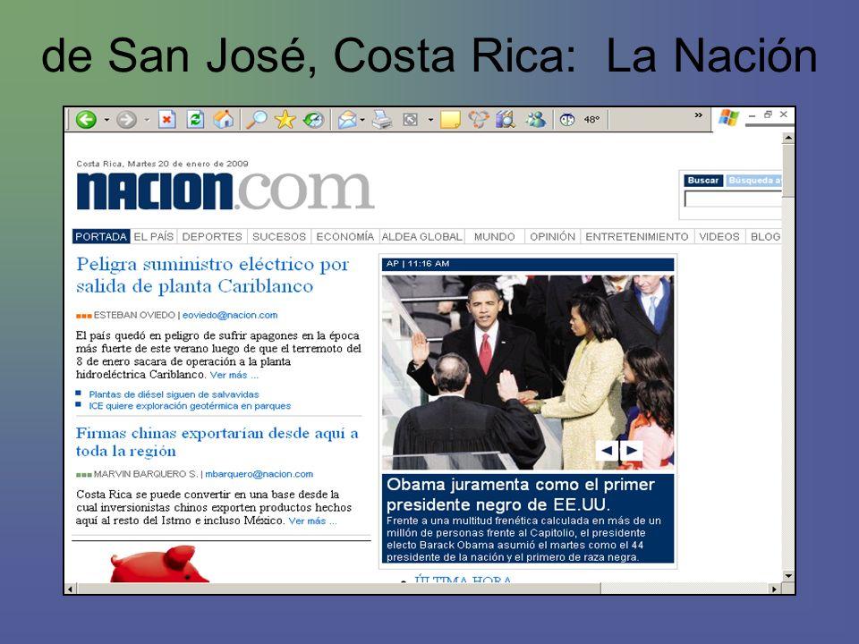 de San José, Costa Rica: La Nación