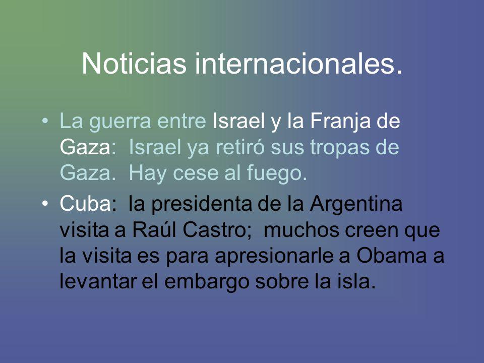 Noticias internacionales.