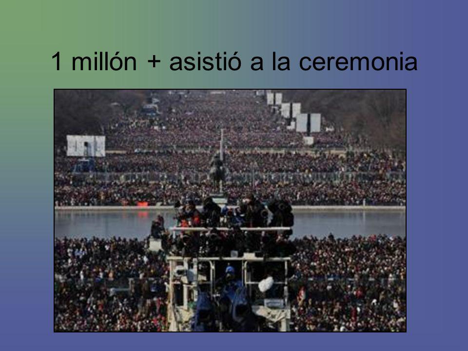 1 millón + asistió a la ceremonia