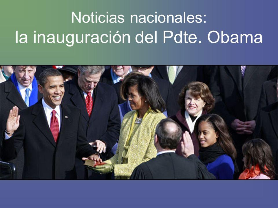 Noticias nacionales: la inauguración del Pdte. Obama