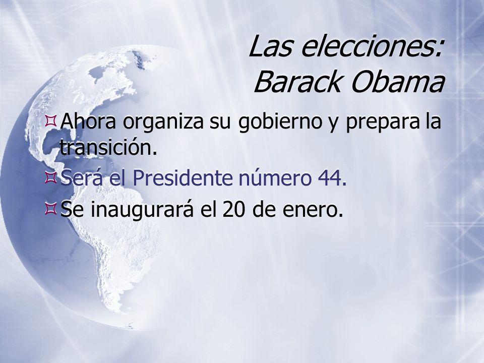 Las elecciones: Barack Obama Ahora organiza su gobierno y prepara la transición.