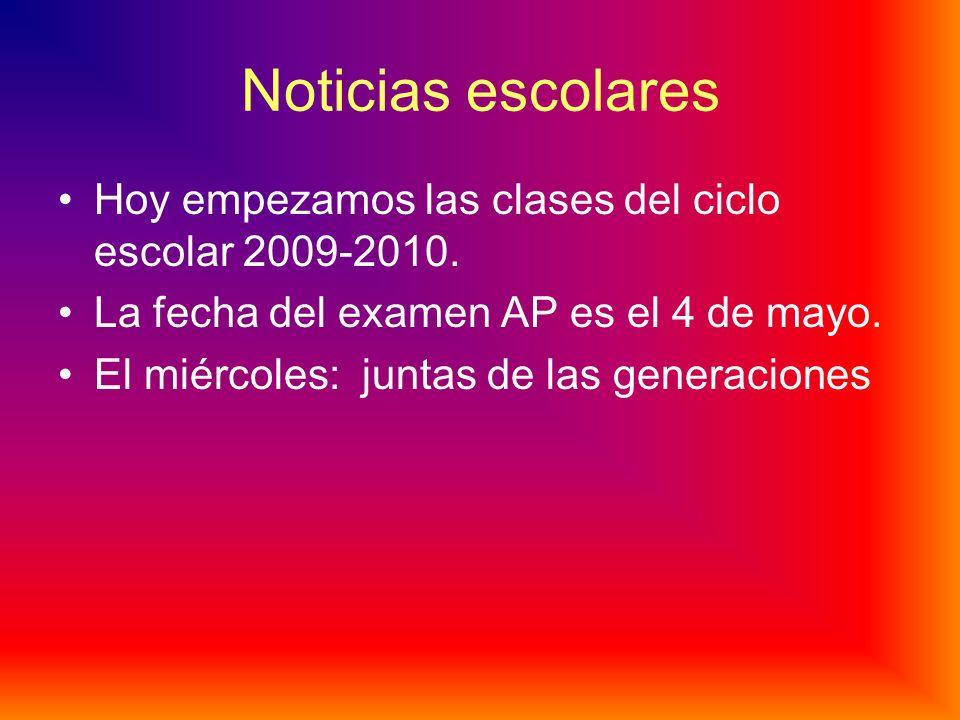 Noticias A1 Noticias escolares Noticias nacionales Noticias internacionales La economía