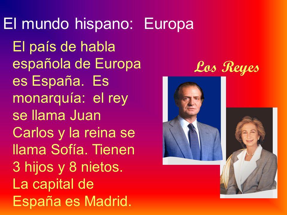 El mundo hispano: África El país de habla española de África se llama la Guinea Ecuatorial. Su capital es Malabo. Fue colonia española, así que el esp