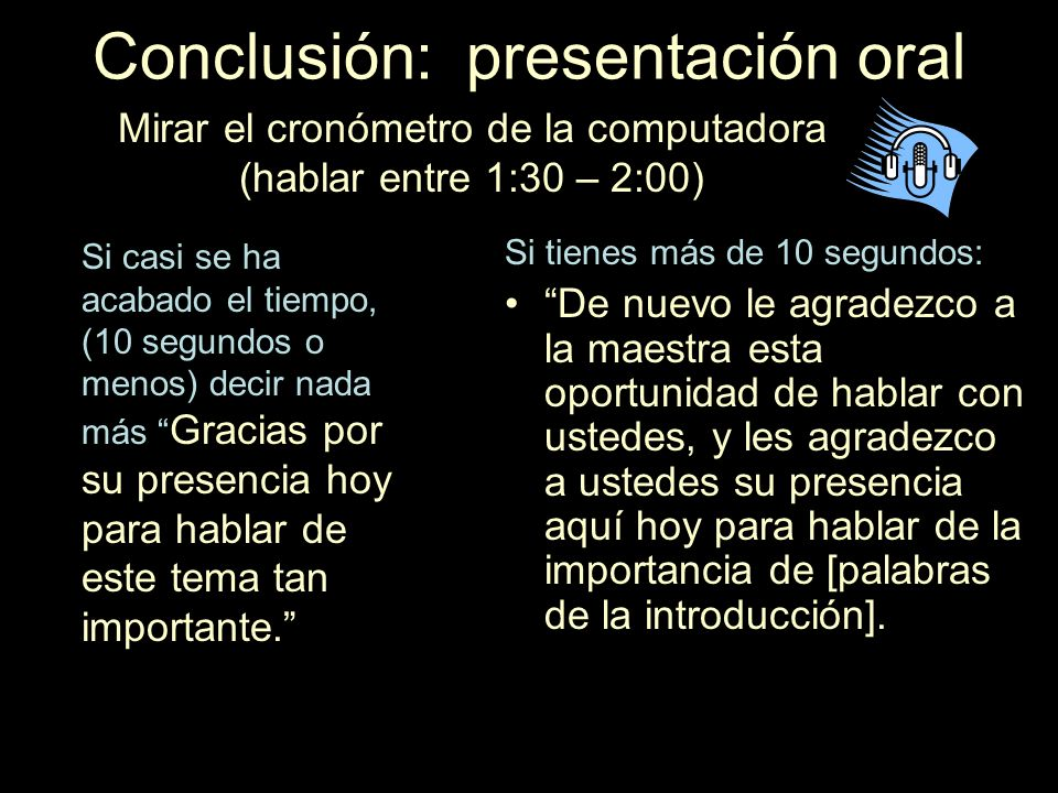 Introducción a la presentación oral Aprender de memoria Buenos días. Para mí es un gran placer/privilegio/gusto/honor estar aquí con ustedes. Le agrad