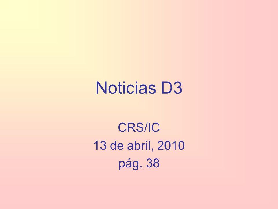 Noticias D3 CRS/IC 13 de abril, 2010 pág. 38
