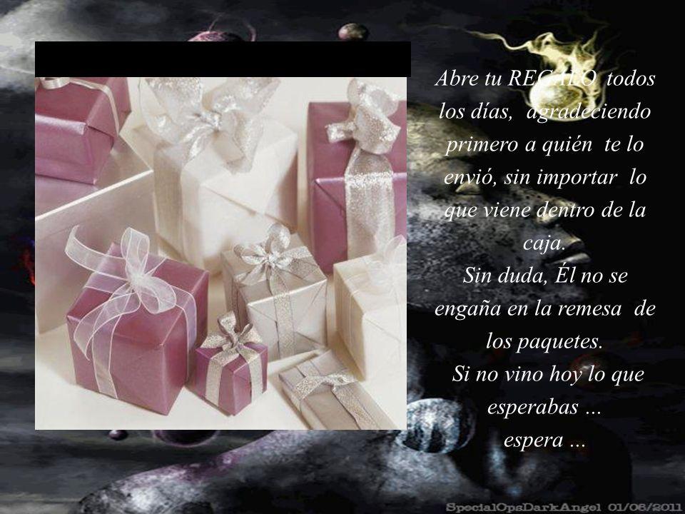 Ese día cuando despertamos recibimos el regalo de DIOS para nosotr@s. No siempre ÉL nos regala lo que esperamos o queremos... Pero ÉL siempre, siempre