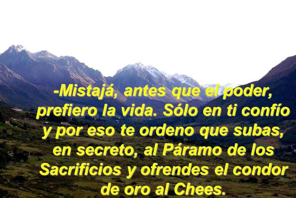 Nuestra Sierra Majestuosa, la que cobijo, a Don Tulio Febres Cordero…… Cuando mi padre, ya moribundo, me la entregó, me dijo estas palabras: EstE COND