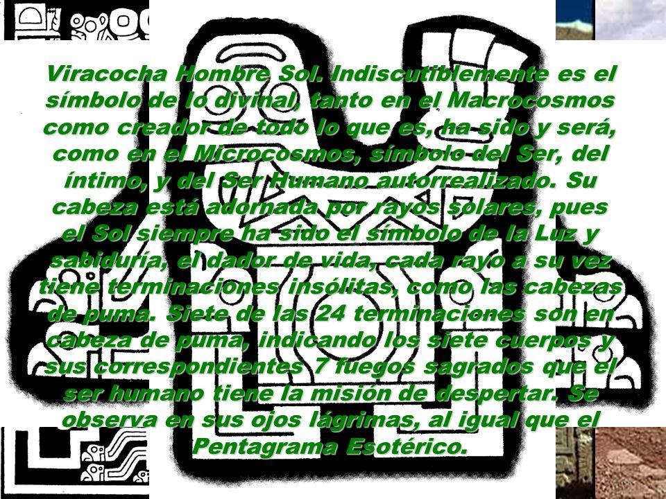 http://virgiliotovar.blospeot.com Tiene en su parte posterior 48 seres alados, que junto con Viracocha, nos dan las 49 partes del Ser, ya que aquí Vir