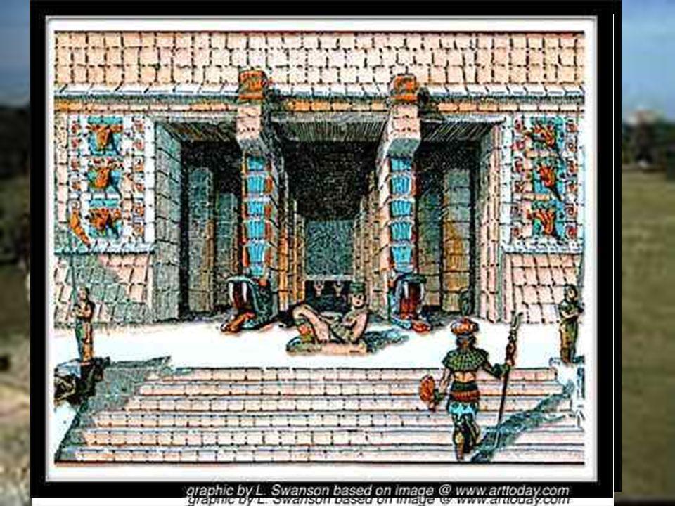 Otro conjunto impresionante es el Templo de los Guerreros y las Mil Columnas, su construcción es muy parecida al Templo principal de tula, llamado el