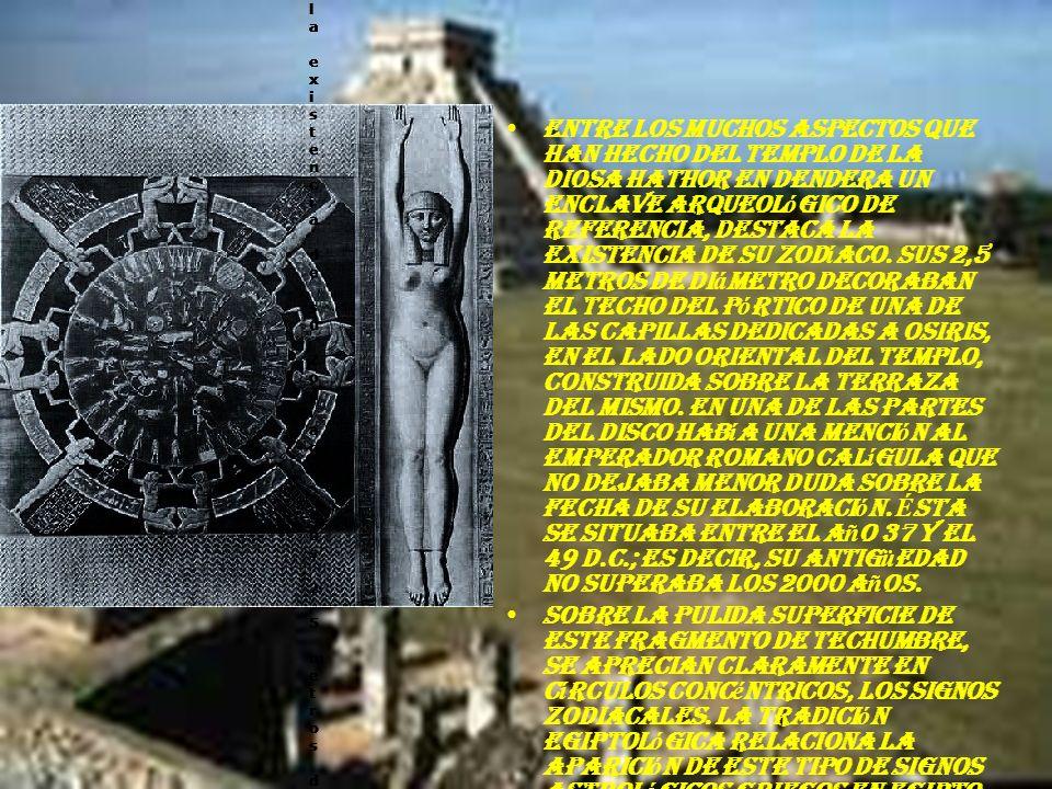 El zodiaco de dendera: Muestra los ciclos de la tierra.Esto lo hace mediante las posiciones de la estrellas. Luego de la primera cat á strofe, muestra