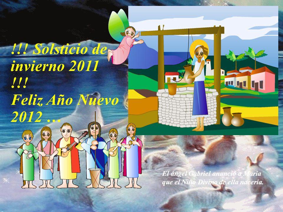 !!! Solsticio de invierno 2011 !!! Feliz Año Nuevo 2012 … Que el CARIÑO este presente en un simple hola, o en cualquier otra frase…. Que los CORAZONES