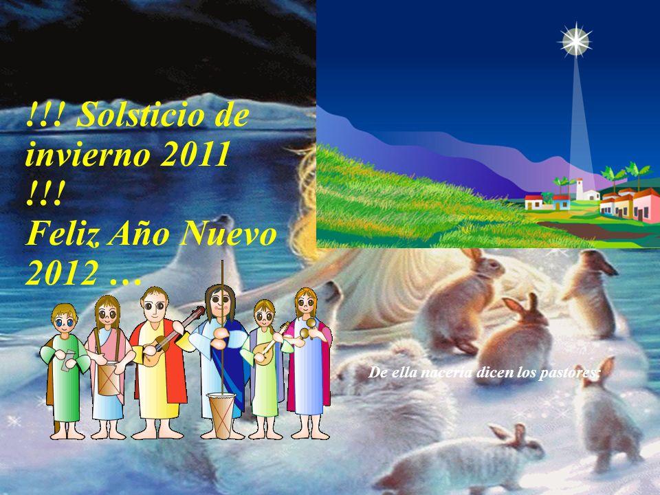 !!! Solsticio de invierno 2011 !!! Feliz Año Nuevo 2012 … Que las cosas pequeñas como la envidia, el odio… sean observadas y paradas en el momento de