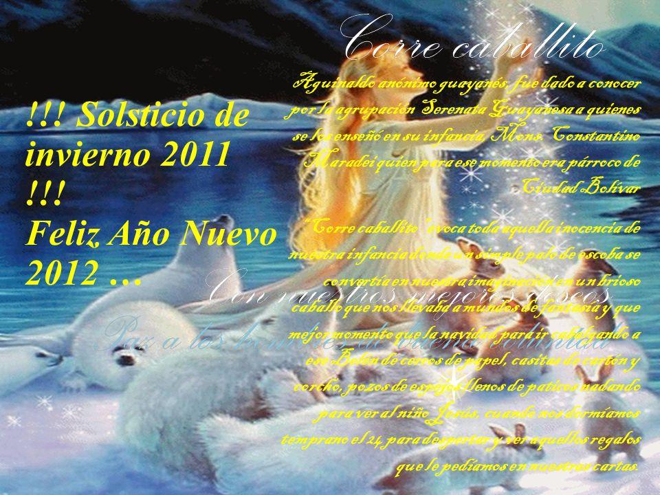 !!! Solsticio de invierno 2011 !!! Feliz Año Nuevo 2012 … que ha nacido un niño cubierto de flores.