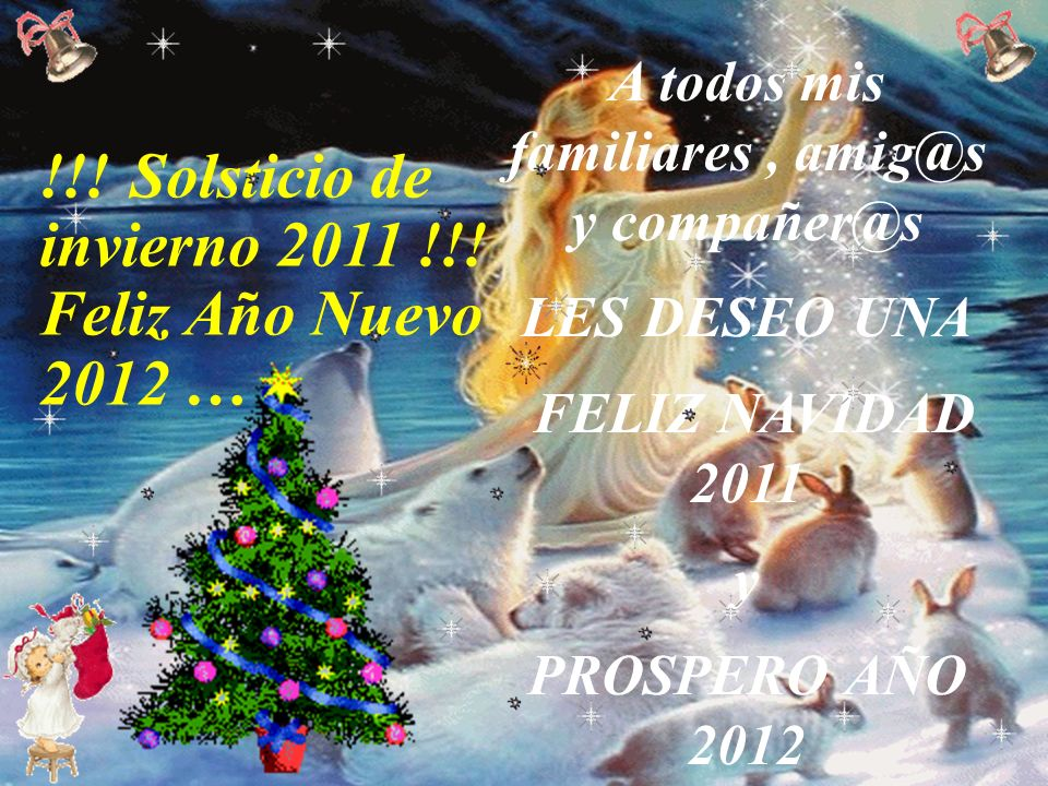 !!! Solsticio de invierno 2011 !!! Feliz Año Nuevo 2012 … Aguinaldo anónimo guayanés, fue dado a conocer por la agrupación Serenata Guayanesa a quiene