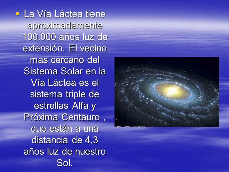 Tiene un radio medio de 50.000 años luz; en ella se ubica nuestro Sistema Solar y contiene alrededor de 100.000 millones de estrellas.