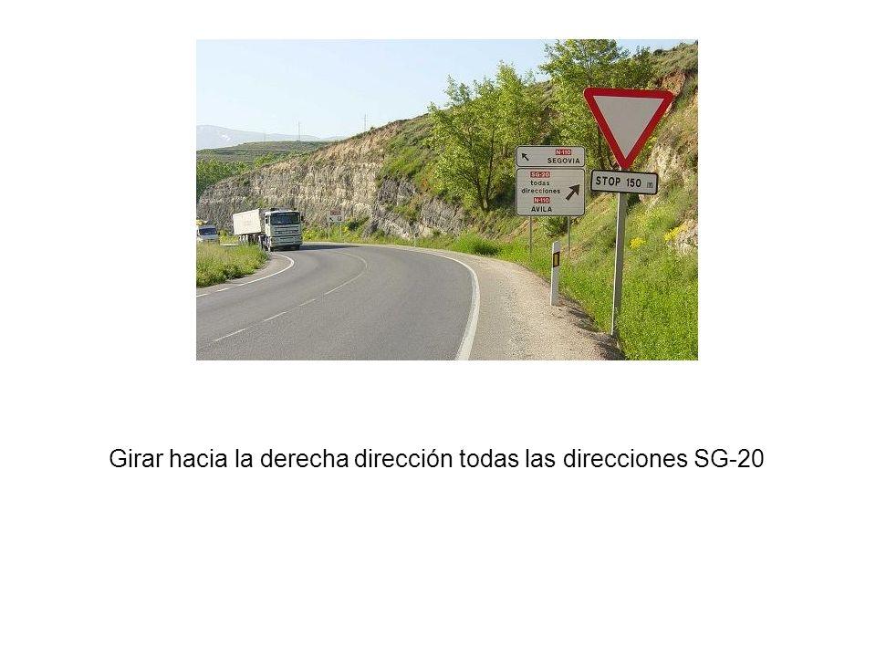Girar hacia la derecha dirección todas las direcciones SG-20