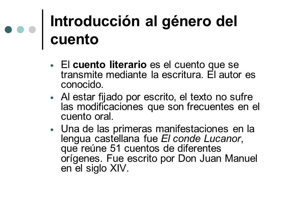 Introducción al género del cuento Antes de presentar la introducción, el profesor puede averiguar cuáles son los conocimientos previos de los estudiantes, y qué saben ya acerca del género del cuento.