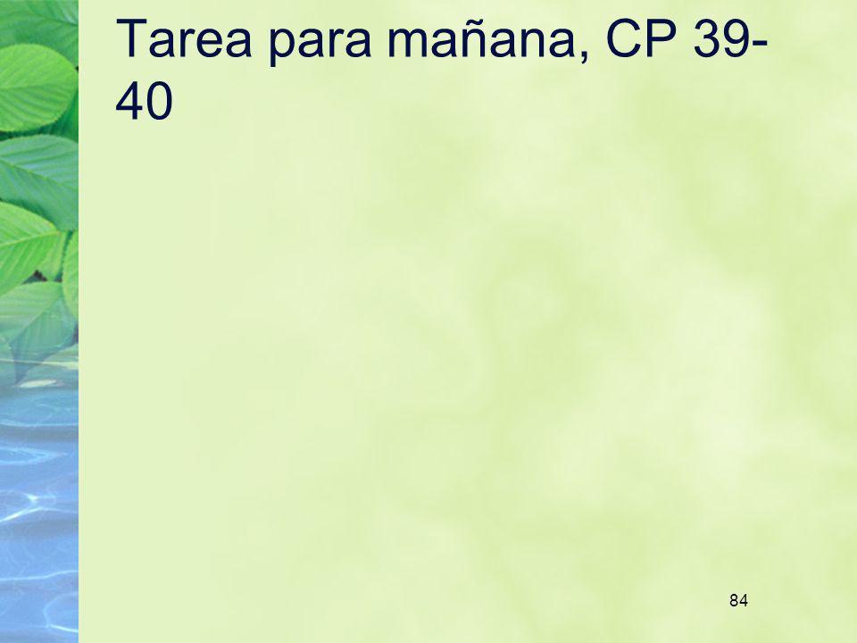 84 Tarea para mañana, CP 39- 40