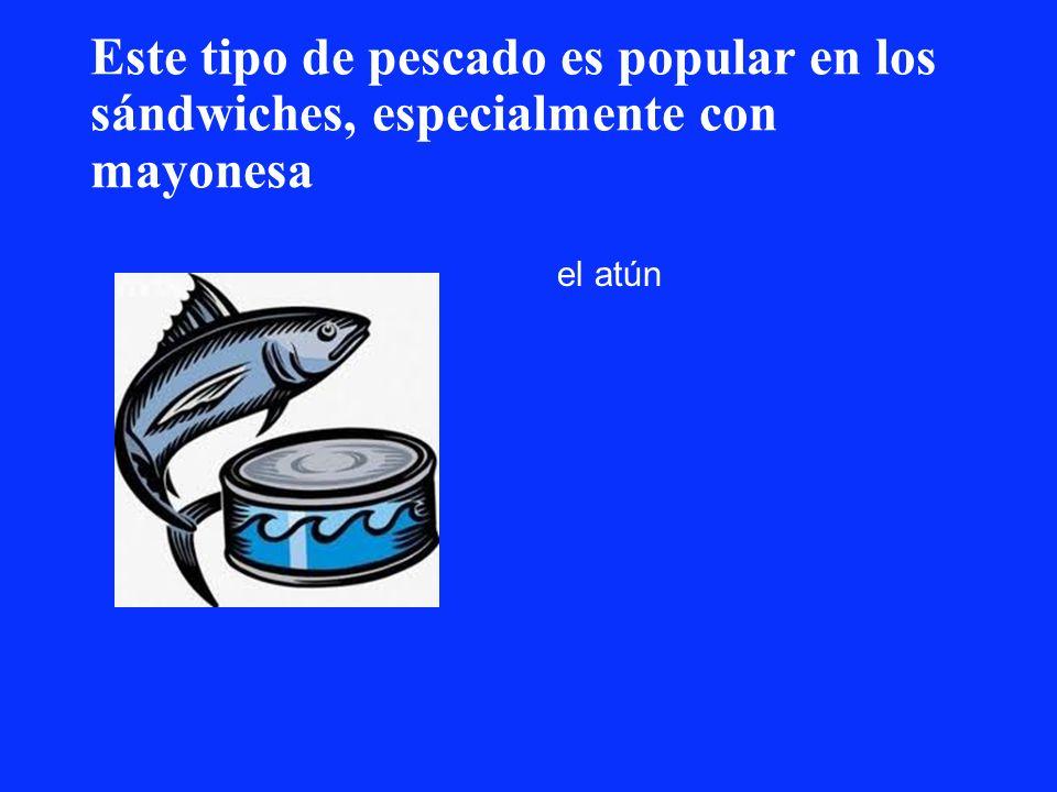 Este tipo de pescado es popular en los sándwiches, especialmente con mayonesa el atún