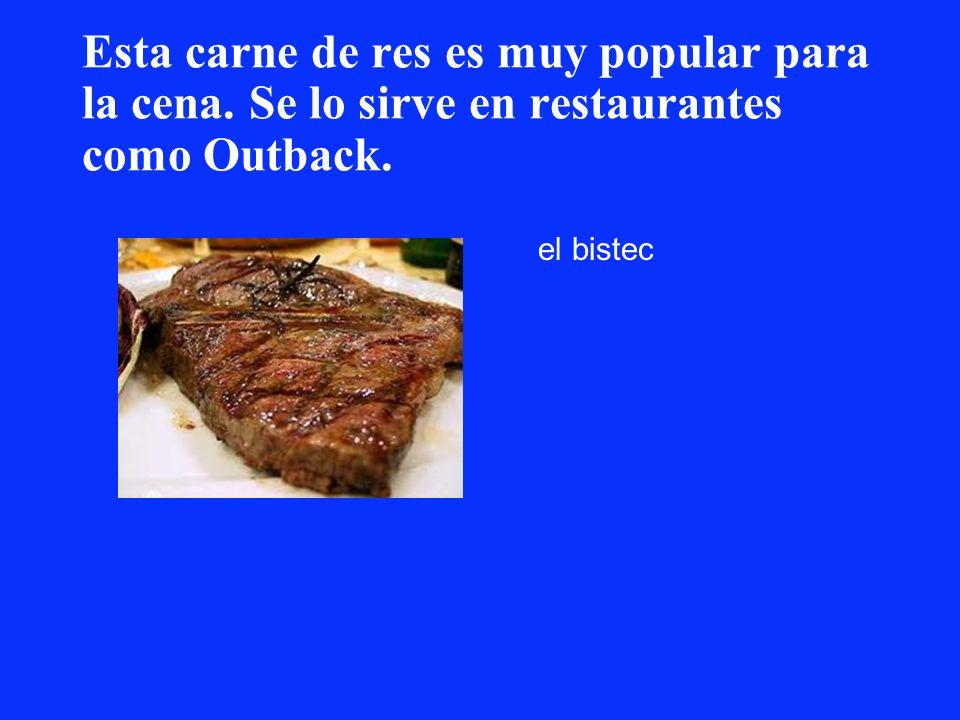 Esta carne de res es muy popular para la cena. Se lo sirve en restaurantes como Outback. el bistec
