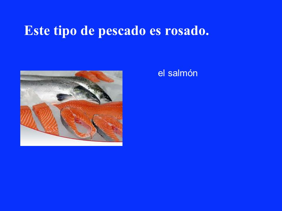 Este tipo de pescado es rosado. el salmón